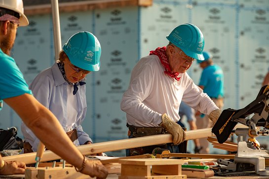 Jimmy Carter and Rosalynn Carter begin work Monday on a new Habitat for Humanity home