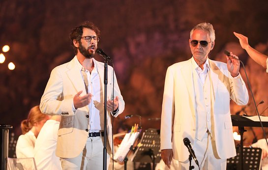 Josh Groban and Andrea Bocelli