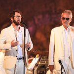 Andrea Bocelli, Josh Groban, Reba McEntire, Kristin Chenoweth At Celebrity Fight Night In Italy