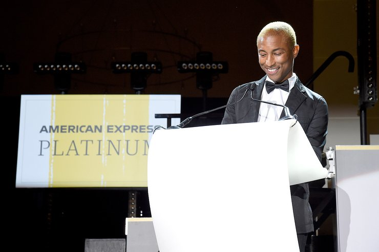 Pharrell Williams speaks onstage during the Yellow Ball