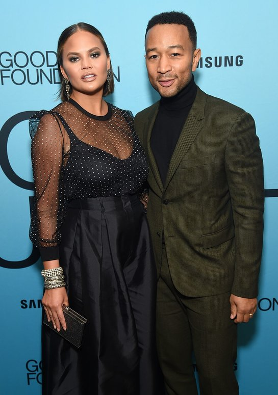 Chrissy Teigen and John Legend at An Evening of Comedy + Music