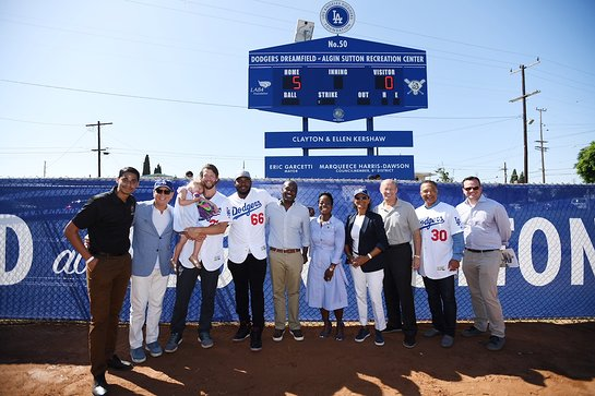 50th Dodgers Dreamfield at Algin Sutton Recreation Center in South Los Angeles