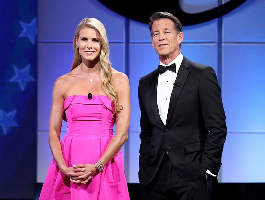James Denton and Beth Stern hosted the 2018 American Humane Hero Dog Awards
