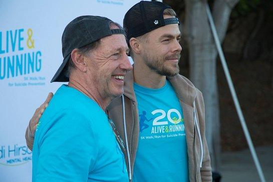 Dennis Duggan and Derek Hough