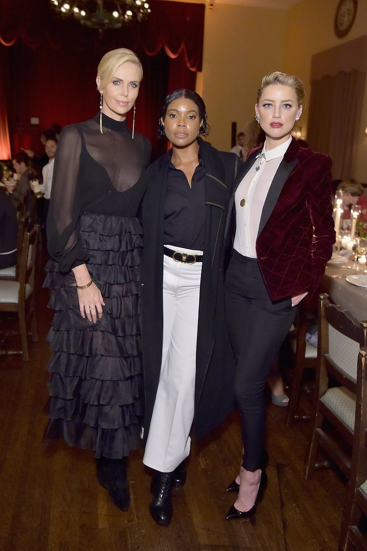 Charlize Theron, Gabrielle Union, Amber Heard