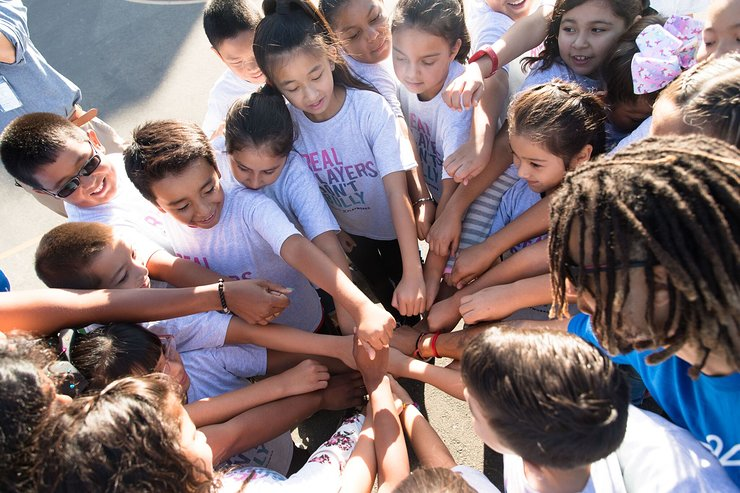 Kids Enjoy Play Day with the Stars at Griffin Avenue Elementary School