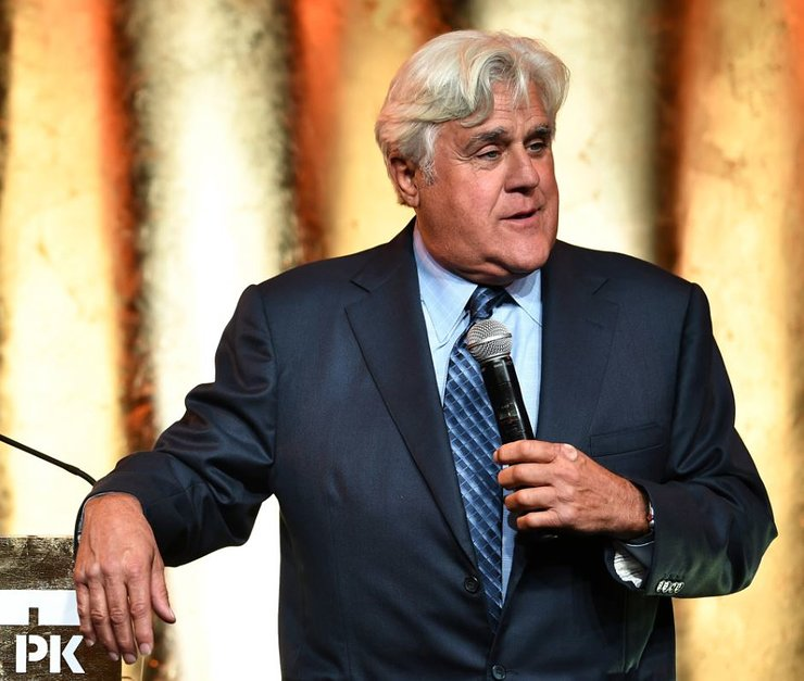 Jay Leno onstage at 20th Anniversary Gala to celebrate Hudson River Park