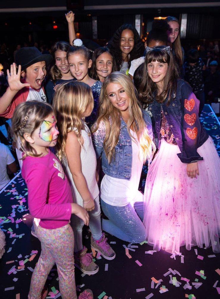 Paris Hilton and Miracle Kid Sasha Bogosian and Guests
