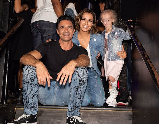 Gilles Marini and Victoria Arlen with Miracle Kid Carly