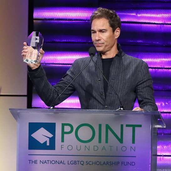 Eric McCormack speaks onstage at Point Foundations Point Honors gala