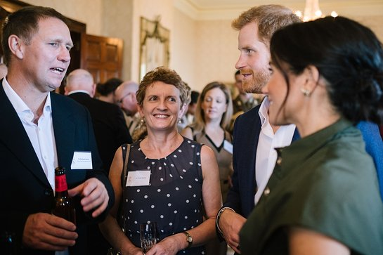 Duke and Duchess of Sussex Meet Dr Richard Harris