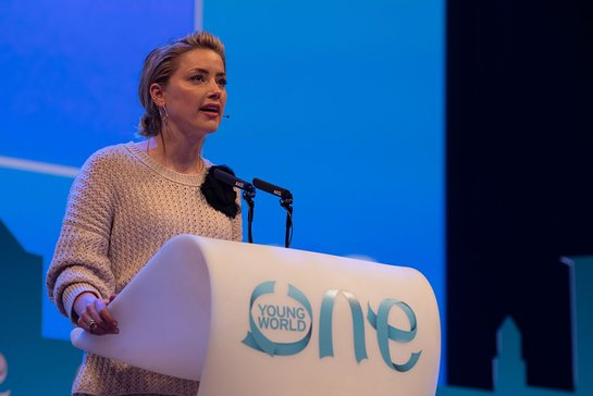Amber Heard at One Young World Summit