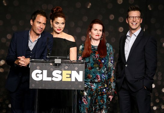 The Stars Of Will and Grace at GLSEN Respect Awards - Los Angeles