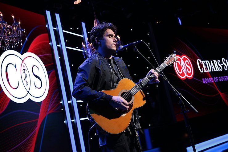 John Mayer performs at the Cedars-Sinai Board of Governors Dinner