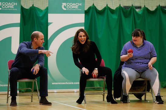 Duke and Duchess of Cambridge Visit Coach Core