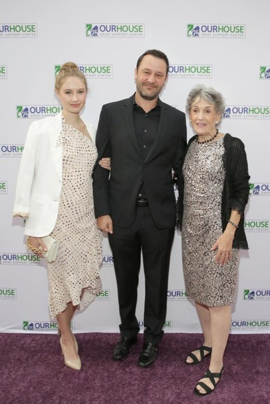 Caitlin Thompson, Dan Fogelman, and OUR HOUSE Grief Support Center's founder Jo-Ann Lautman