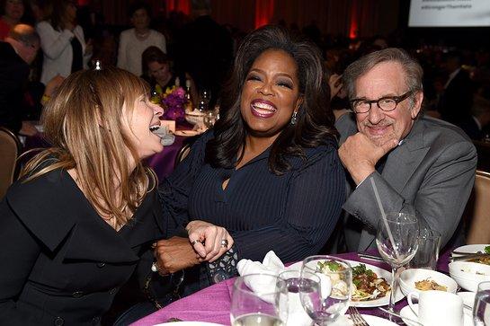 Kate Capshaw, Oprah Winfrey and Steven Spielberg