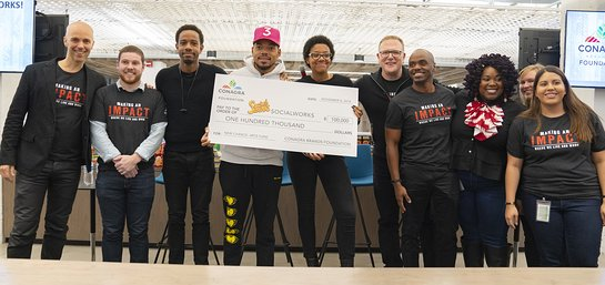 Conagra Brands presented Chance the Rapper a grant to Chicago Public Schools which ensures that more students have access to enrichment education