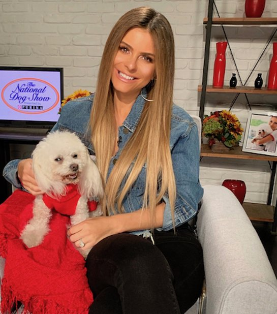 Maria Menounos and her dog Whinnie