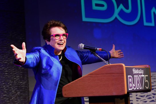 Billie Jean King at BJK 75