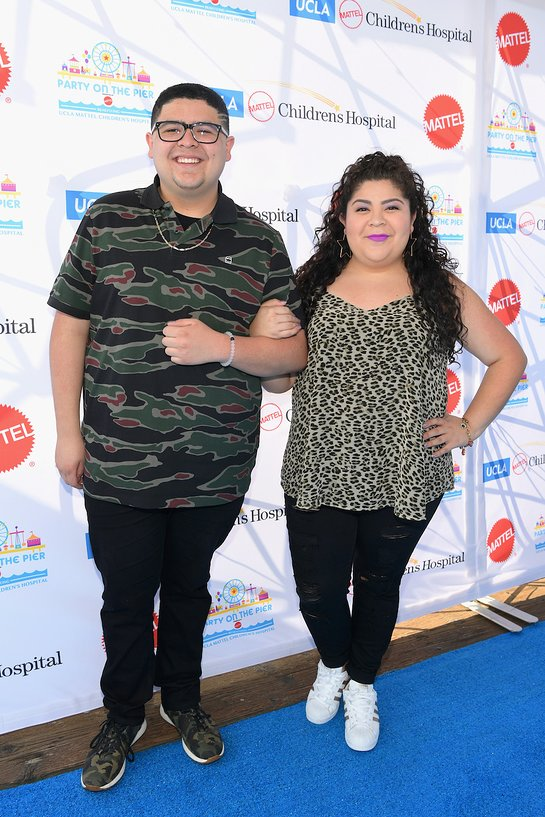 Rico Rodriguez and Raini Rodriguez at Party on the Pier