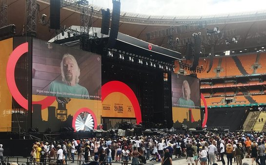 Richard Branson announced the funding at the Global Citizen concert in South Africa