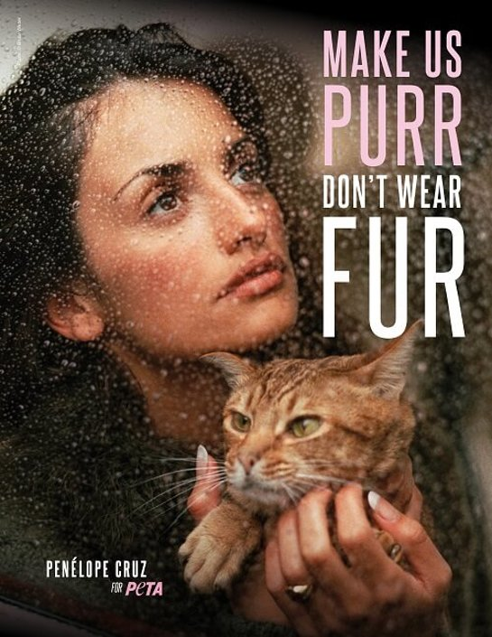 Penelope Cruz and PETA Urge Shoppers to Ditch Fur in New Christmas Ad Campaign