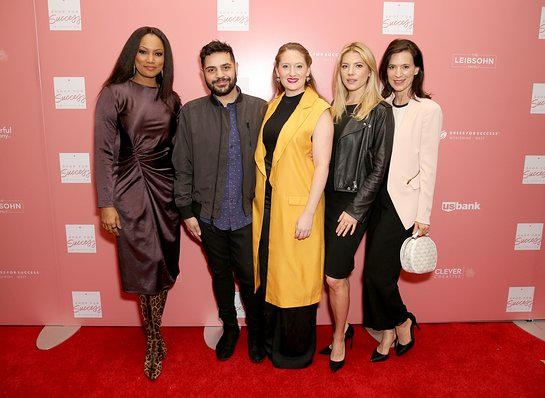 Garcelle Beauvais, Michael Costello, Lesley Brillhart, Perrey Reeves, and Katheryn Winnick co-host the Shop for Success VIP Opening, benefitting Dress For Success Worldwide West LA