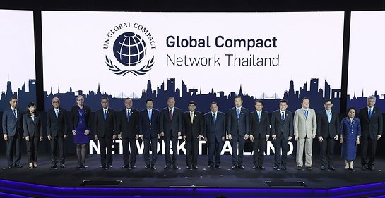 Ban Ki-moon celebrated the official launch of Global Compact Network Thailand in Bangkok