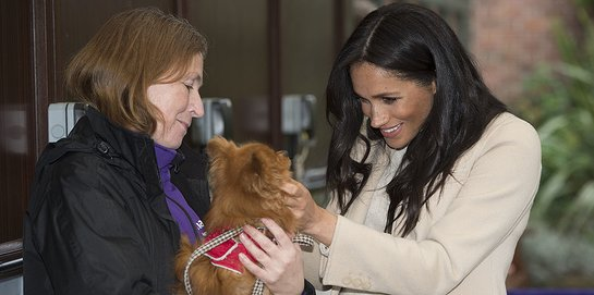 Duchess of Sussex Visits The Mayhew