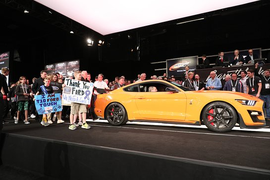 2020 Ford Mustang Shelby GT500 VIN 001 sold for charity at Barrett-Jackson