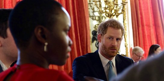 Prince Harry at Commonwealth Youth Roundtable