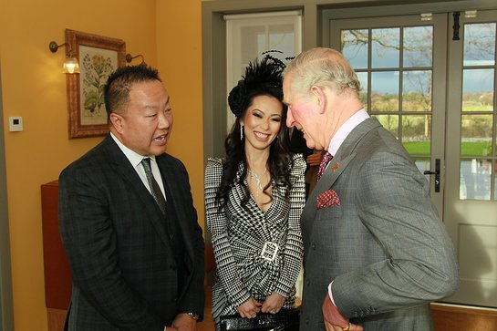 Dr. Gabriel Chiu and Christine Chiu Meet Prince Charles