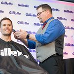 Tom Brady Joined Gillette for a Victory Shave to Benefit Local Boston Charities
