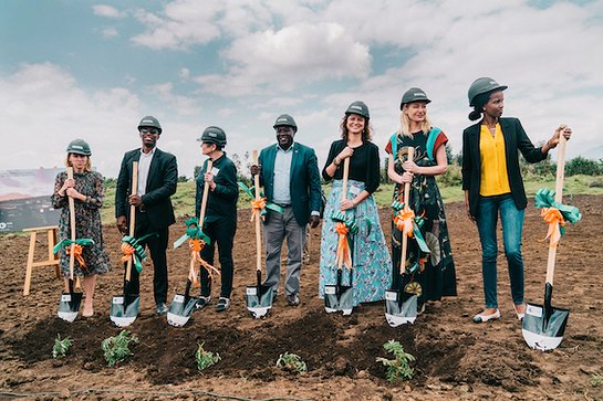 Portia de Rossi at Groundbreaking Ceremony in Rwanda