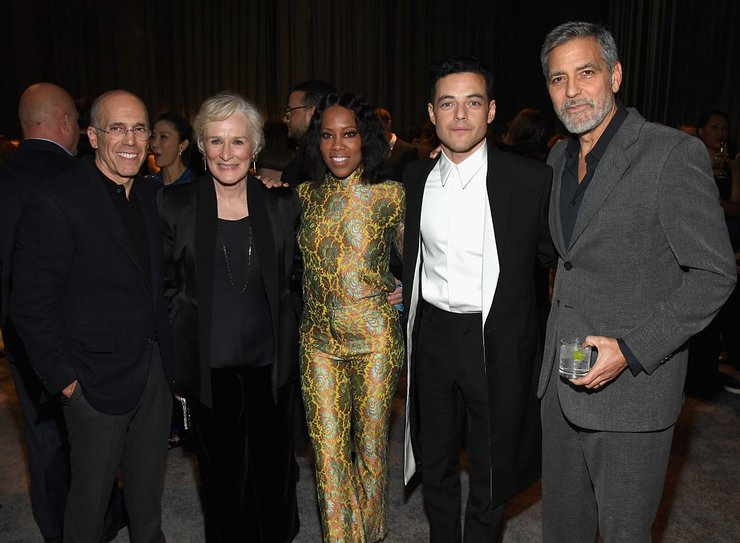 Jeffrey Katzenberg, Glenn Close, Regina King, Rami Malek, and George Clooney