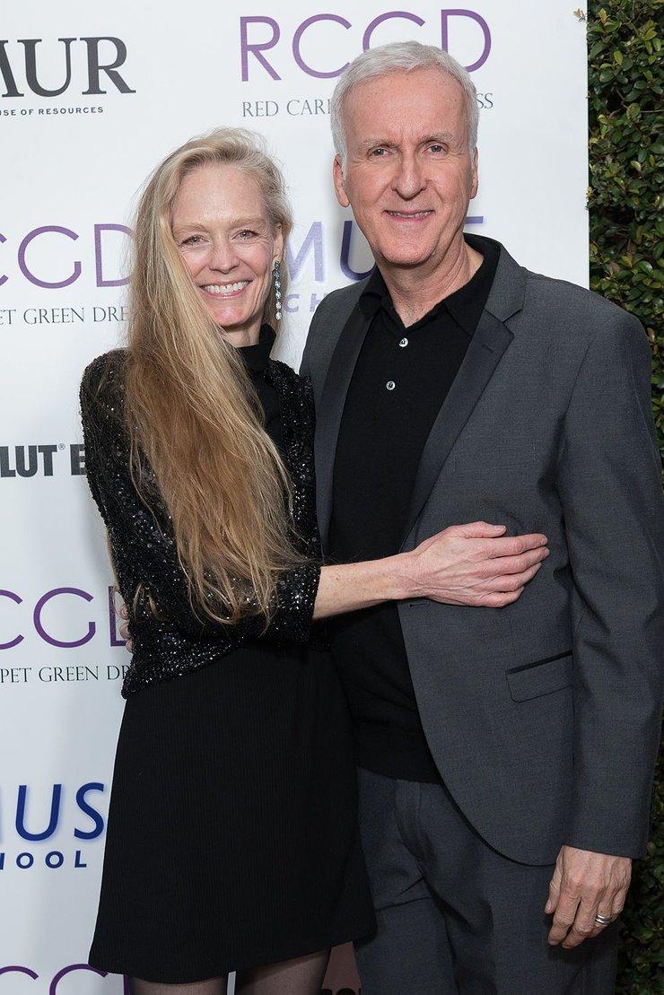 Suzy Amis Cameron and James Cameron at 2019 Red Carpet Green Dress Pre-Oscars Celebration