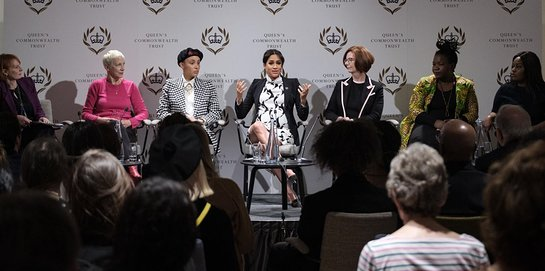 Duchess of Sussex and Annie Lennox Join Panel Discussion
