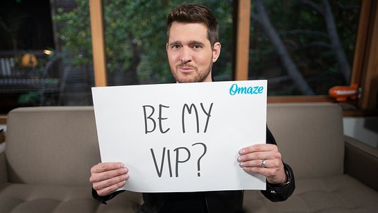 Join Michael Buble on Stage