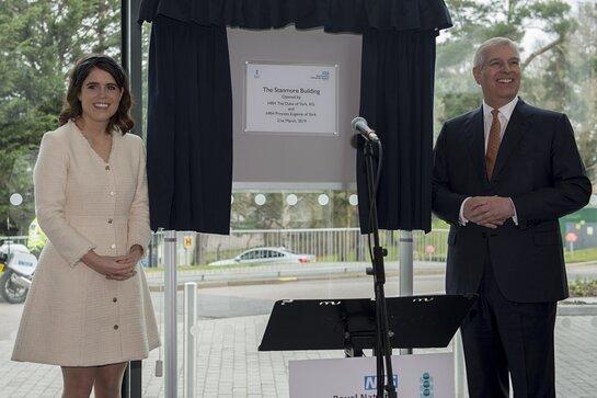 Duke of York and Princess Eugenie Visit Royal National Orthopaedic Hospital