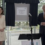 Princess Eugenie Joins The Duke Of York On Visit To Royal National Orthopaedic Hospital