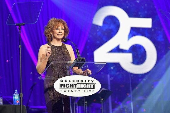 Reba McEntire speaks onstage during Celebrity Fight Night XXV