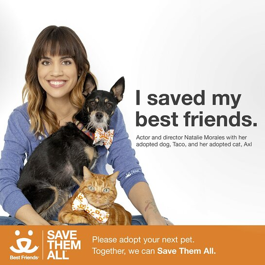 Natalie Morales Joins National Campaign to Promote Pet Adoption
