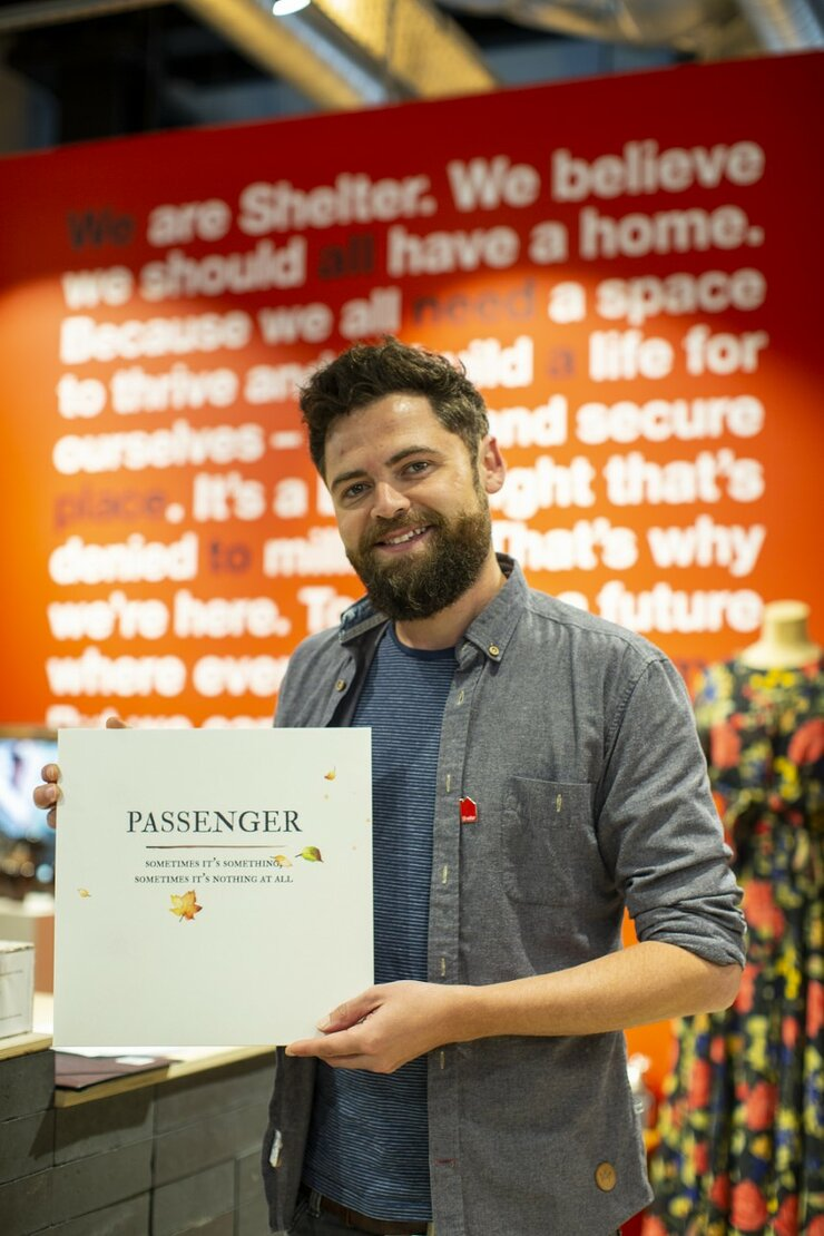 Passenger donates all profits from his new album to Shelter