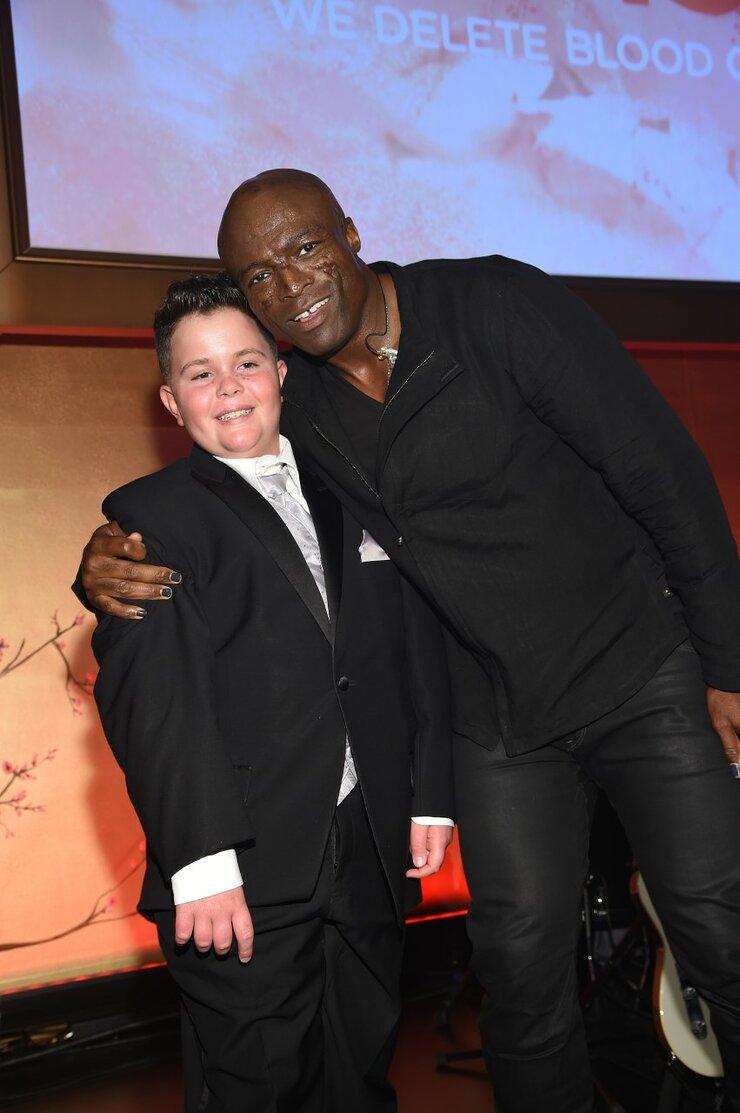 Carson Lexington-Stewart and Seal at DKMS Gala