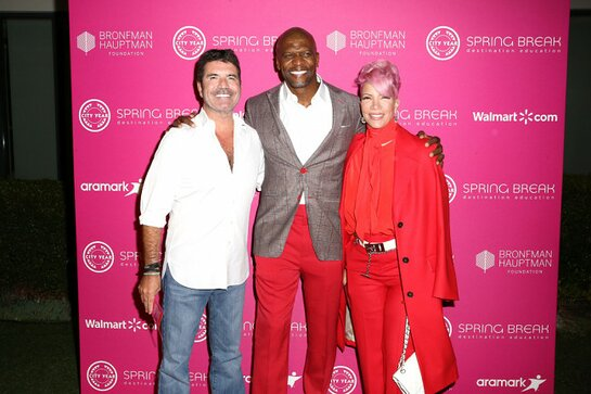 Simon Cowell, Terry Crews, and Rebecca King-Crews