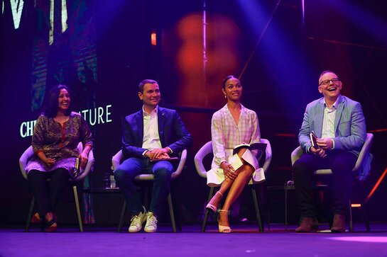Zoe Saldana attends the Chivas Venture Global Final at TNW Conference