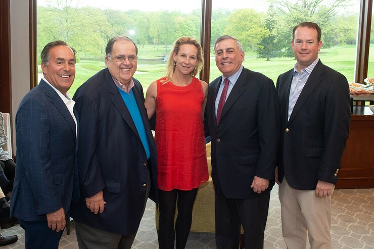 Alan Zack, Edward R. Matthews, Host Anita Marks, Co-Chair Jeffrey S. Weiss and Jason Carlough