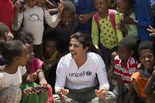 Priyanka Chopra Jonas met children in the Bambasi refugee camp and Hitsats and Adi-Harush camps