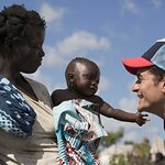 Orlando Bloom Visits Children Displaced by Cyclone Idai in Mozambique